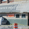 Part of Wiste's Meat Market is covered by icicles left from firefighters trying to put out a fire in downtown Janesville on Wednesday morning. Photo by Jackson Forderer