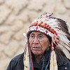 Chief Arvol Looking Horse, a Lakota Sioux, led many of the ceremonies and prayers at Reconciliation Park during the Dakota 38+2 Memorial held on Wednesday. Photo by Jackson Forderer