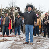 John Eagle speaks at the Dakota 38+2 Memorial held at Reconciliation Park. Photo by Jackson Forderer