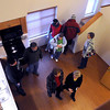 Visitors tour one of the units in the recently completed Sibley Park Apartments Thursday. The complex, overlooking the Minnesota River, was built by the nonprofit Southwest Minnesota Housing Partnership responding to a market need for more affordable and high-quality rental housing.