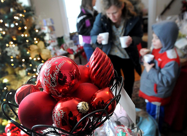 Christmas ornaments and other gifts were on sale at Tacy's House during the Victorian Christmas.