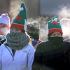 Pat Christman<br /> A pair of runners are surrounded by steam as they prepare to run the Reindeer Dash 5k Saturday at the Mankato Family YMCA.