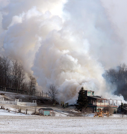 Smoke from a house fire near the Chankaska Creek Winery near Kasota could be seen for miles.