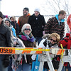Spectators brave the cold to watch people jump into Hallett's Pond during Saturday's Polar Plunge in St. Peter.