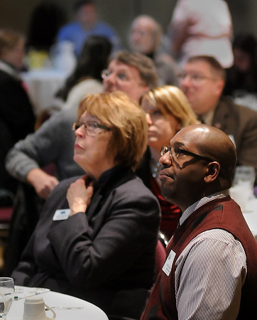 John Cross<br /> Several hundred people attended a luncheon on Tuesday celebrating ten years of the Greater Mankato Diversity Council.
