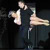 Pat Christman<br /> Buster's owner Matt Little spins his partner Whitney Waugh during their dance Saturday.
