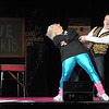 Pat Christman<br /> Kory Kath and Heather Mueller dance during Dancing with the Mankato Stars Saturday at the Verizon Wireless Center.