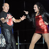 Pat Christman<br /> Mark Weinstein and Amy Wilson dance during Dancing with the Mankato Stars Saturday.