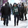 Super Bowl Eagles fan on the mall