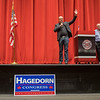 Dave Kruse speaks on behalf of gubernatorial candidate Jeff Johnson at the Republican Caucaus held at Mankato West on Tuesday. Kruse also spoke on behalf of Jeremy Munson, who is running for State House seat 23B. Photo by Jackson Forderer