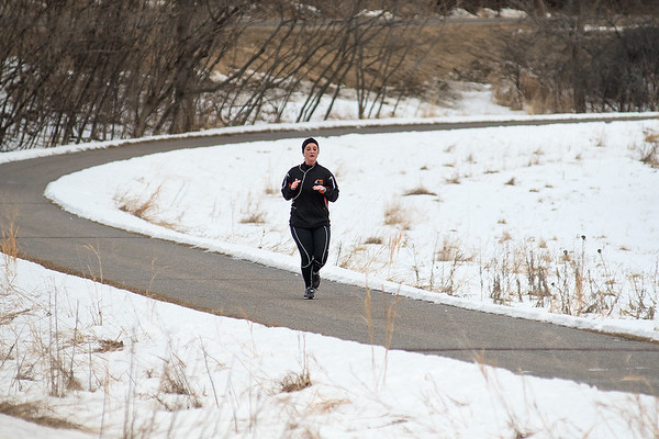 Kristin Gunsolus runs along the Red Jacket Trail as she trains for the upcoming MS Run the US Relay. Gunsolus will run 176 miles in seven days in Iowa this summer and will raise at least $10,000 for MS research. Photo by Jackson Forderer