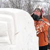 Snow sculpture carving 2