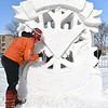 Snow sculpture finish 4
