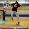 John Cross<br /> Kamron Blake whisks across a ledge while participating in a skatboard event held Saturday at the Mankato Family YMCA to raise money for the rebuilding of Chesley Roller Sport Park.