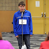 "Pat Christman<br /> Kellen Rodriguez spells a word during the South Central Service Cooperative's Regional Spelling Bee Tuesday at South Central College. Rodriguez, an eighth grader at Fairmont Junior High, correctly spelled ""nemesis"" after 14 rounds of spelling to earn a trip to the Scripps National Spelling Bee in Washington, D.C.  in May."