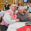 Matt Strum of the Riverblenders sings a Valentine's Day song to Audrey Tolzman at Ecumen Pathstone Living on Wednesday. Strum and three others from the Riverblenders entertained residents at Pathstone and also delivered a personal Valentine to Tolzman. Photo by Jackson Forderer