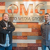 Wesley Otto (left) and Mike Sargent (right) of the newly opened Otto Media Group. The newly renovated space at 1609 North Riverfront Drive houses five different content creation businesses. Photo by Jackson Forderer