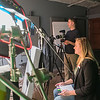 Jordan Powers of Made in Mankato mans his video cameras while Cate DeBates interviews a subject for the YWCA at Powers' studio on Tuesday. Powers' studio is one of five businesses in the newly opened Otto Media Group location on North Riverfront Drive. Photo by Jackson Forderer