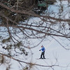 "A young skier finishes their run on one of the back slopes of Mount Kato on Friday. General Manager John Nelson said they haven't seen a big uptick of skiers yet, because people have been having troubles getting around but added, ""Once the weather normalizes, the extra snow will certainly help."" Photo by Jackson Forderer"