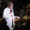 """A Prairie Home Companion"" host Garrison Keillor walks through the crowd during a show at the Verizon Wireless Center as part of his 2015 ""The America the Beautiful"" tour. File photo"