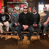 "Members of the band Diskord, from left, Jeremy Buendorf, guitar, Mark Hedlund, bass, Jeff ""Zimmy"" Zimmerman, vocals, Shawn Sondergaard, drums, and Clark Baker, guitar, bring their nu metal sound to the What's Up Lounge on Saturday, Feb. 11. The group has not played a live show since Dec 1, 2012. Photo by Jackson Forderer"
