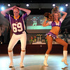 Minnesota Vikings cheerleader and Mankato native Kaylee Munson and her father Dave dance during Saturday's Dancing With the Mankato Stars.