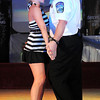 "Mankato Director of Public Safety Todd Miller and Nicole Mueller dance to Elvis Presley's ""Jailhouse Rock"" during Saturday's Dancing With the Mankato Stars."