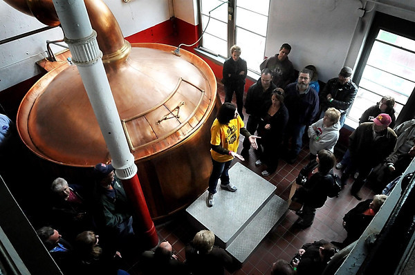 Wright Braudt<br /> Claire Bunda gave Schell's fans a tour of the brewery that brought visitors to places that have been strictly off limits for the last 150 years.
