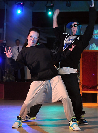 Jay Weir and Meredith Martin dance a hip hop number during Saturday's Dancing With the Mankato Stars.
