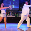 YMCA director John Kind and Meagan Gerber dance during Saturday's Dancing With the Mankato Stars.
