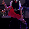 KEYC's Stacey Steinhagen and Travis Shafer conclude their tango during Saturday's Dancing With the Mankato Stars.