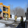 John Cross<br /> The Mankato Fire Department was called to the Riverside Inn to extinguish a fire on Tuesday.  The fire was confined to a lower unit that was unoccupied. Riverside emlpoyees said the fire caused by smolding objects was quickly exinguished.