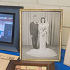 The wedding photo of Victor and Lucille Paradis, who were married in 1946 following World War II, on display at a reception following Victor's funeral on Saturday. Lucille said they were sweethearts during the and were married 72 years, living in Mankato since 1948. Photo by Jackson Forderer