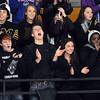 Pat Christman<br /> Mankato East/Loyola girls hockey fans cheer at the start of their team's Section 2A championship game against Litchfield-Dassel-Cokato Thursday at Gustavus Adolphus College in St. Peter.