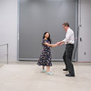Dr. Ken Ambrose (right) and Rachel Dreist practice their dance routine backstage at Dancing with the Mankato Stars held at the Verizon Performance Center on Saturday. Photo by Jackson Forderer