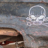 A decal on the side of Dustin Groehler's truck at the Winter Slam Demolition Derby held on Saturday. Photo by Jackson Forderer