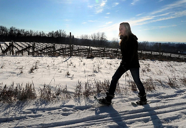 Melissa Windom has been among the first who have used Chankaska Creek Ranch and Winery's new trails for snowshoeing and cross-country skiing. As far as scenery goes, she said the trails are among the best she's tried in the region.