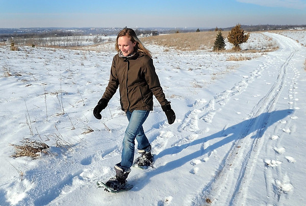 The three snowshoeing and cross-country skiing loops total about two miles and offer hilltop views of St. Peter, Kasota and the surrounding valley.