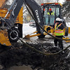 John Cross<br /> North Mankato city crews work on a broken water main in Upper North Mankato.