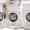 Sample glasses wait for visitors to the Mankato Craft Beer Expo Saturday.