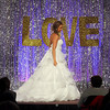 Pat Christman<br /> A model shows off a wedding dress during the Mankato Bridal Show's fashion show Saturday at the Kato Ballroom.