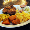 John Cross<br /> Fried chicken, macaroni and cheese, sweet potatoes, corn and smoked turkey with cabbage are a signature dish at Daisy's Sould Food.