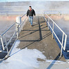Jim Bruender, the manager of the Mankato Waste Water Treatment Plant, walks through the plant on Feb. 2, 2015. File photo