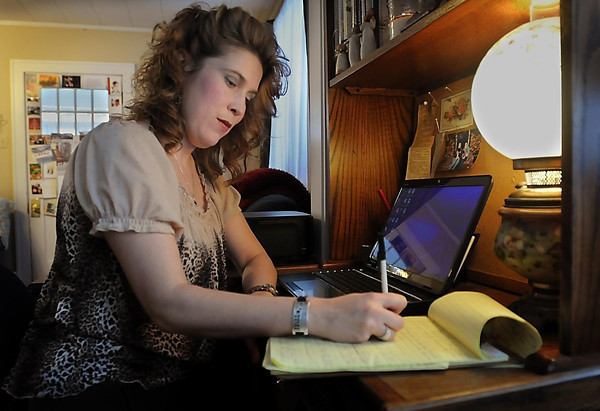 Former newspaper reporter Serra Muscatello started Treasured Heritage Keepsakes, which specializes in writing personal stories of people's lives for clients, out of a desire to be a stay-at-home mom.