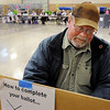 John Cross<br /> Joel Lindgren of St. Peter had plenty of elbow room at the National Guard Armory to cast his vote Tuesday morning in the primary election to fill the District 19A legislative seat vacated by Terry Morrow.
