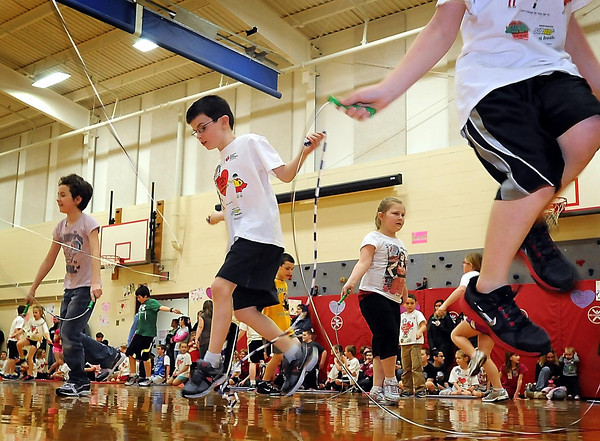 John Cross<br /> It was a lot of leaps for heart health Thursday as youngsters at the Eagle Lake Elementary School participated in the annual Jumprope for Heart Health.