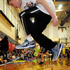 John Cross<br /> Joey Uldrych, a fourth grader at Eagle Lake Elementary School , grabs some air while participating in the school's annual Jump Rope for Heart Health on Friday. The event is a fund raiser for the American Heart Association.