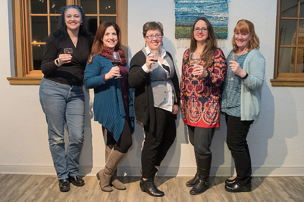 From left, Michelle Parsneau, Christi Smith, Amanda Hauman, Jill Fischer and Jane Laskey make up the group On the Verge Theatre that will be performing Love, Loss and What I Wore at Twin Rivers Council for the Arts. Admission is free and show times are Jan. 13 at 7:30 p.m. and Jan. 14 at 1:30 p.m. Photo by Jackson Forderer