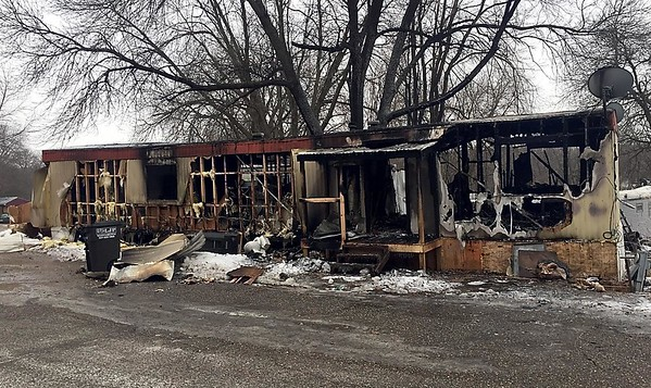 Mobile home fire 1