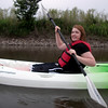 My sister, Kristina Dyslin, was much more of a stealthy kayak warrior than I was. She got the hang of it right away.